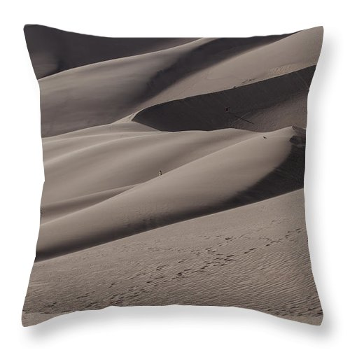 Landscapes Throw Pillow featuring the photograph Great Sands Shapes by Amber Kresge