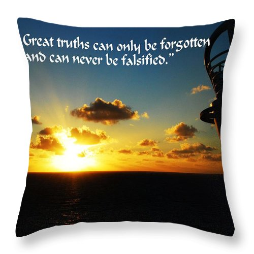 Sunset Throw Pillow featuring the photograph Great Truths by Gary Wonning