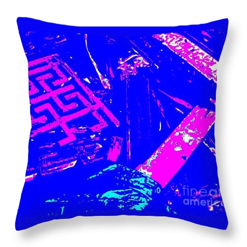 Greek Key Throw Pillow featuring the digital art Greco-celtic Relic by Peter Ogden