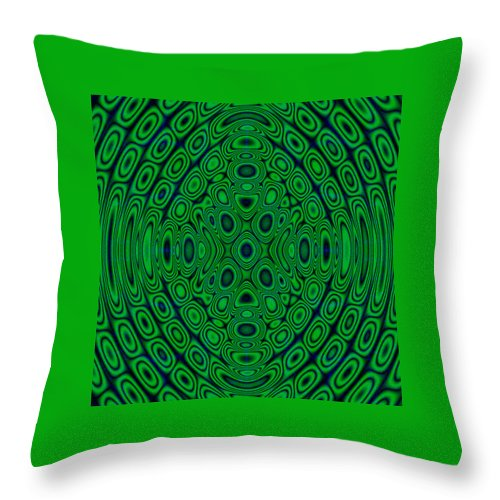 Green Throw Pillow featuring the digital art Green Abstract by Cassie Peters