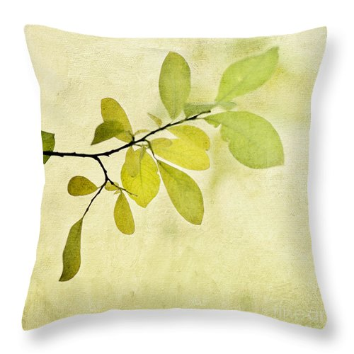 Foliage Throw Pillow featuring the photograph Green Foliage Series by Priska Wettstein