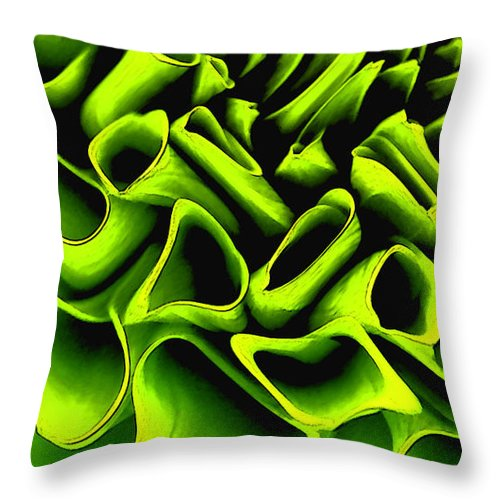 Rose Throw Pillow featuring the painting Green Rose by Bryan Burnham