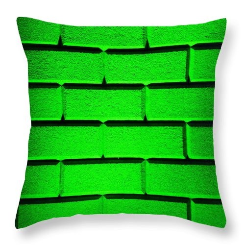 Green Throw Pillow featuring the photograph Green Wall by Semmick Photo
