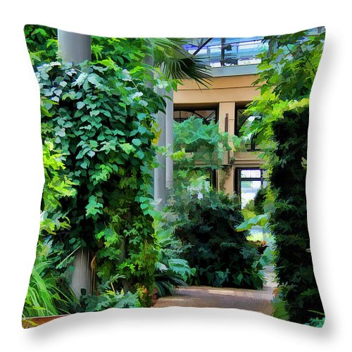 Scenic Throw Pillow featuring the photograph Greenery by Joyce Baldassarre