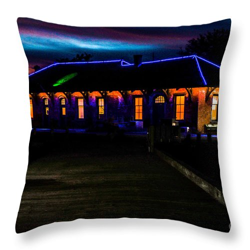 Greenport Throw Pillow featuring the photograph Greenport Ny by Tom Wilder