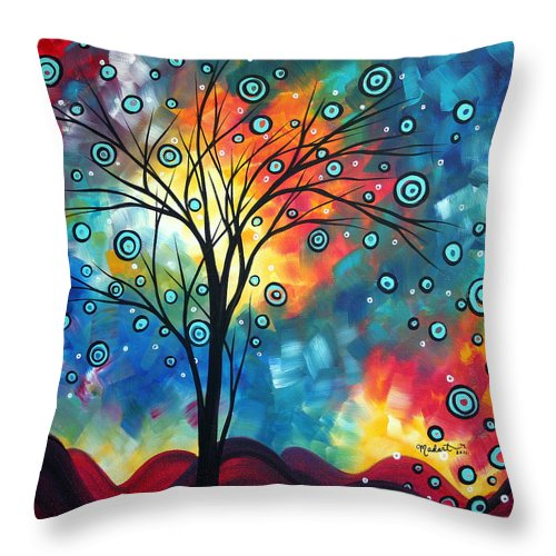 Wall Throw Pillow featuring the painting Greeting The Dawn By Madart by Megan Duncanson