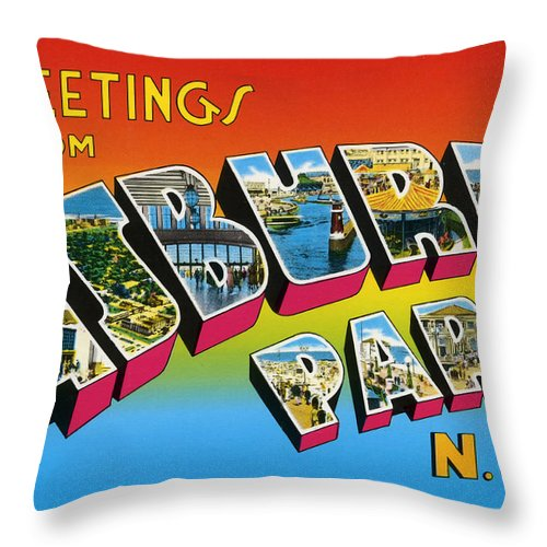 Greetings from asbury park nj throw pillow for sale by bill cannon greetings throw pillow featuring the digital art greetings from asbury park nj by bill cannon m4hsunfo