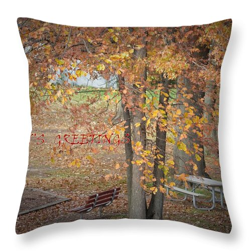 Posters Throw Pillow featuring the photograph Greetings Of Nature by Sonali Gangane