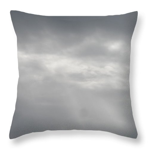Storm Throw Pillow featuring the photograph Grey Skies Above by James Potts