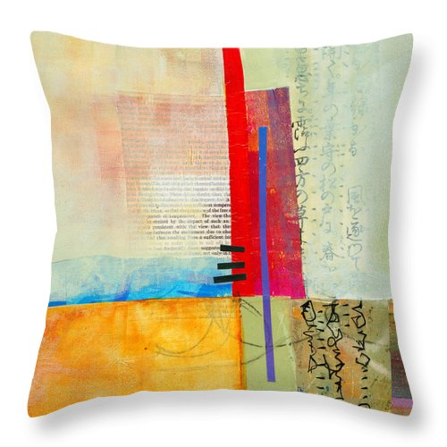 Jane Davies Throw Pillow featuring the painting Grid 3 by Jane Davies