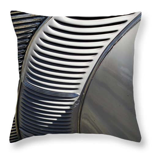 Automobile Throw Pillow featuring the photograph Grill Work by Joe Kozlowski