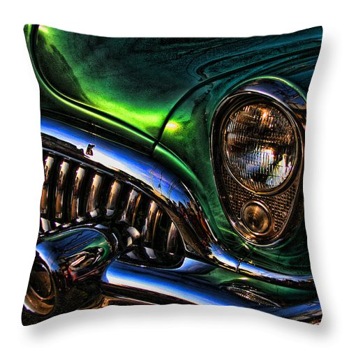 Car Throw Pillow featuring the photograph Grillin by Jes Fritze