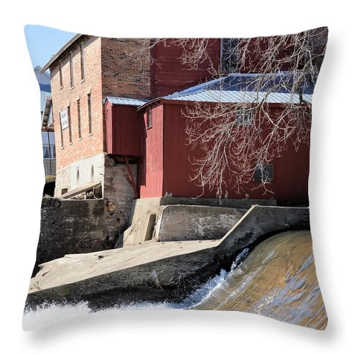 Lidtke Mill Throw Pillow featuring the photograph Grinding Time by Bonfire Photography