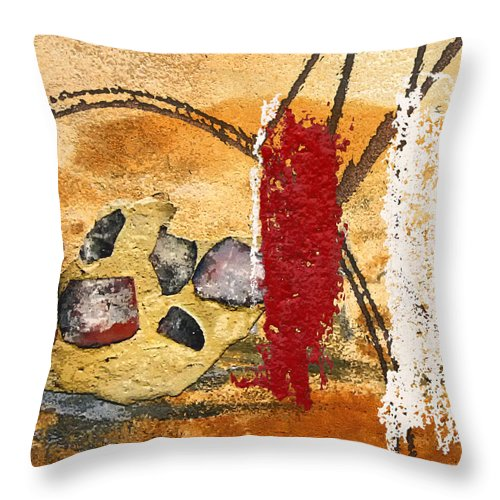 Gris-gris Throw Pillow featuring the mixed media Gris-gris On Your Doorstep by Dominic Piperata