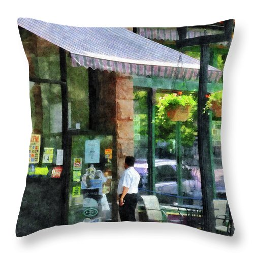 Albany Throw Pillow featuring the photograph Grocery Store Albany Ny by Susan Savad