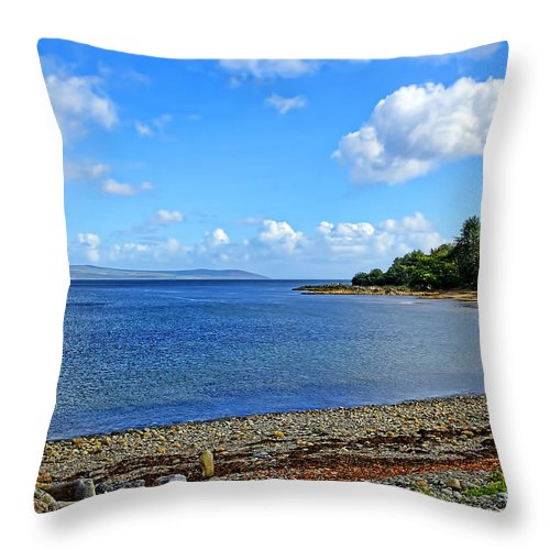Grogport Canvas Throw Pillow featuring the photograph Grogport 2 by Chris Thaxter