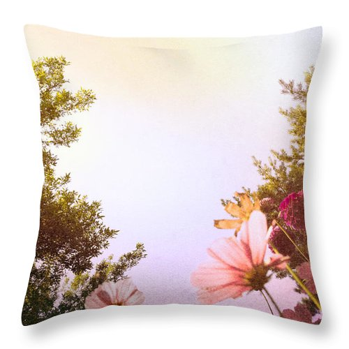 Pink Throw Pillow featuring the photograph Ground View by Margie Hurwich