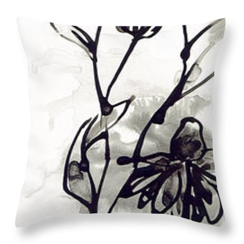 Daisy Throw Pillow featuring the painting Grow by Holly Carton