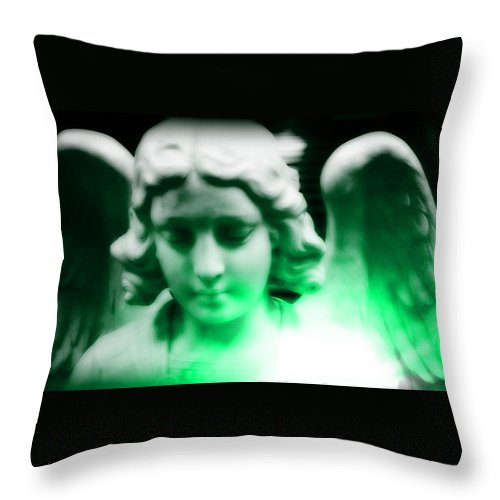 Angel Throw Pillow featuring the photograph Guardian Angel Vii by Aurelio Zucco