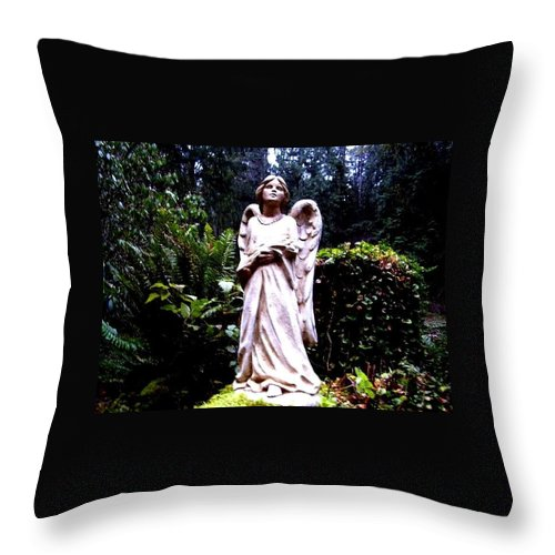 Angel Throw Pillow featuring the photograph Guardian by Julie Hughes