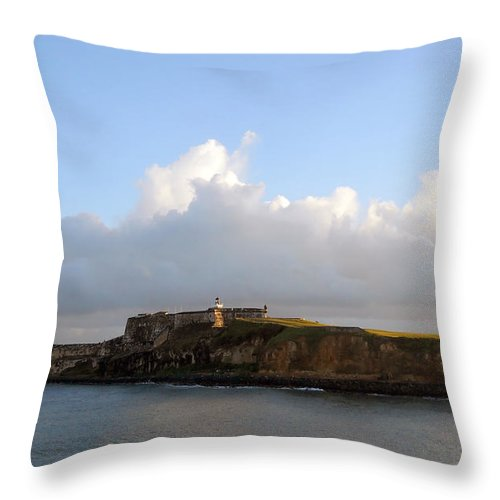 Island Throw Pillow featuring the photograph Guarding Puerto Rico by Judy Hall-Folde