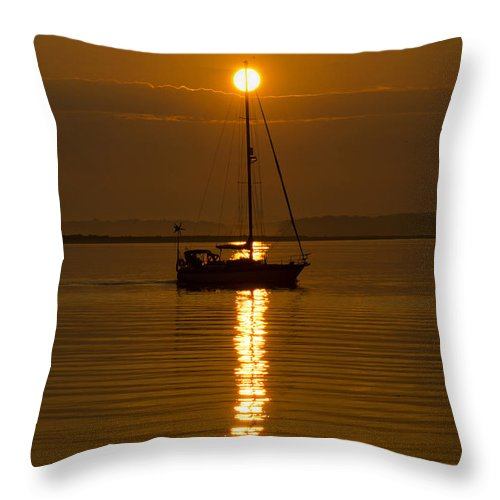 Sail Throw Pillow featuring the photograph Guided by Joe Geraci