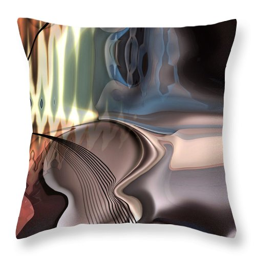 Music Throw Pillow featuring the painting Guitar Sound by Christian Simonian