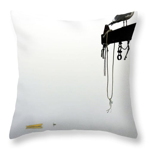 Seagull Throw Pillow featuring the photograph Gull Watch II by Brenda Giasson