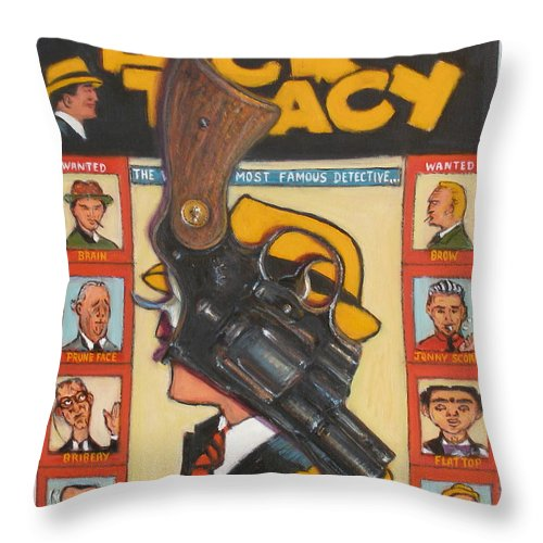 Realism Throw Pillow featuring the painting Gun #1 by Donelli DiMaria
