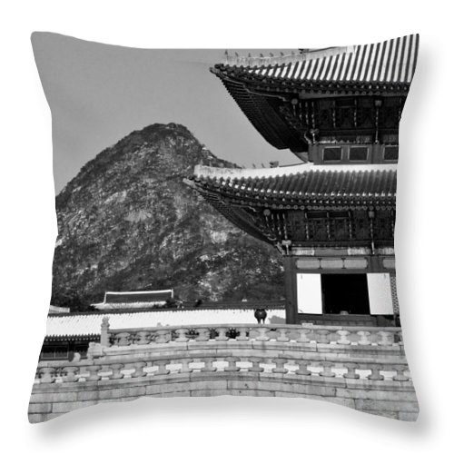 Seoul Throw Pillow featuring the photograph Gyeongbokgung Palace 3 by Rick Saint