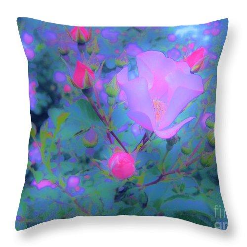 Rose Throw Pillow featuring the photograph Gypsy Rose - Flora - Garden by Susan Carella