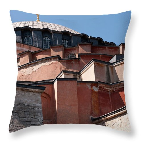 Istanbul Throw Pillow featuring the photograph Hagia Sophia Angles 01 by Rick Piper Photography