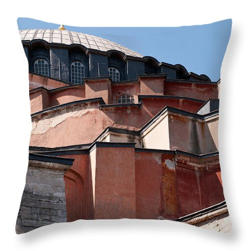 Istanbul Throw Pillow featuring the photograph Hagia Sophia Angles 02 by Rick Piper Photography