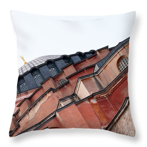 Istanbul Throw Pillow featuring the photograph Hagia Sophia Angles 03 by Rick Piper Photography