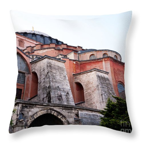 Istanbul Throw Pillow featuring the photograph Hagia Sophia Buttresses by Rick Piper Photography