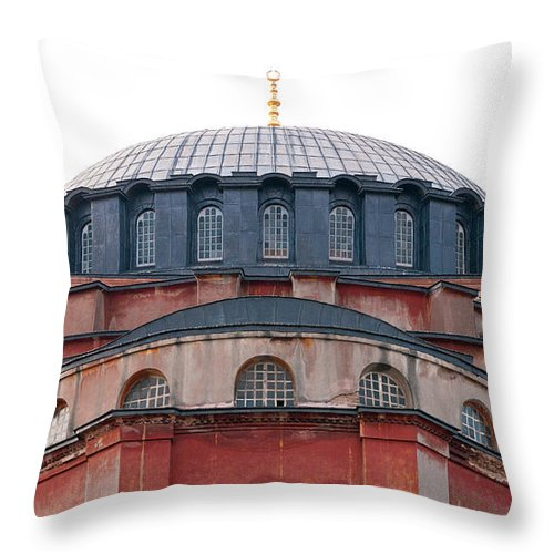 Istanbul Throw Pillow featuring the photograph Hagia Sophia Curves 02 by Rick Piper Photography