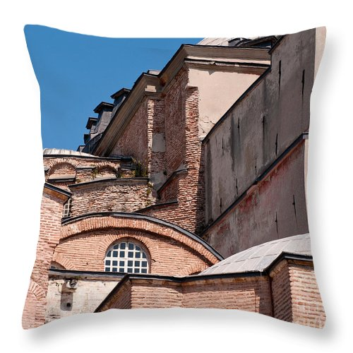 Istanbul Throw Pillow featuring the photograph Hagia Sophia Walls 01 by Rick Piper Photography