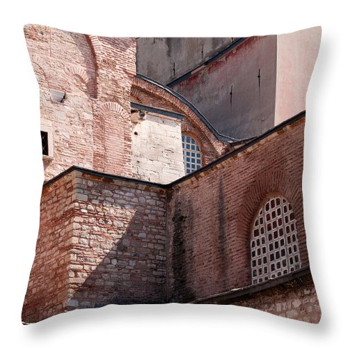 Istanbul Throw Pillow featuring the photograph Hagia Sophia Walls 02 by Rick Piper Photography