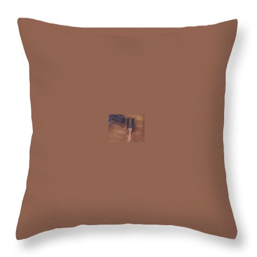 Brush Throw Pillow featuring the painting Hair Day by Sheila Mashaw