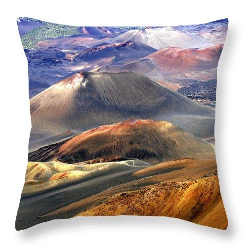 Haleakala Throw Pillow featuring the photograph Haleakala by Bill Morson
