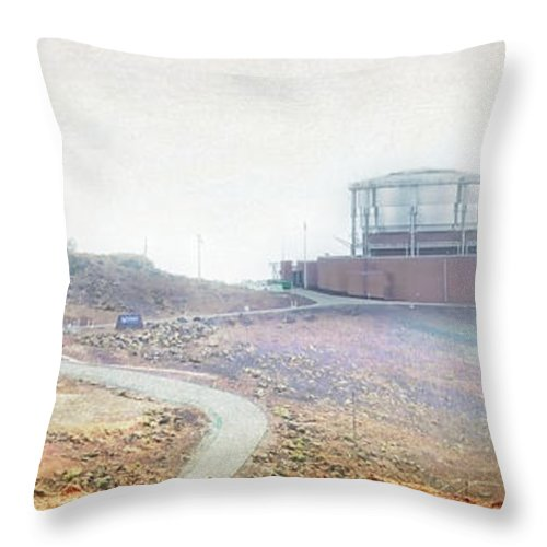 Wright Throw Pillow featuring the photograph Haleakala Observatories by Paulette B Wright
