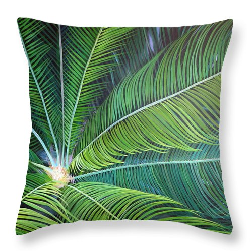 Sago Throw Pillow featuring the painting Half a World Away by Hunter Jay