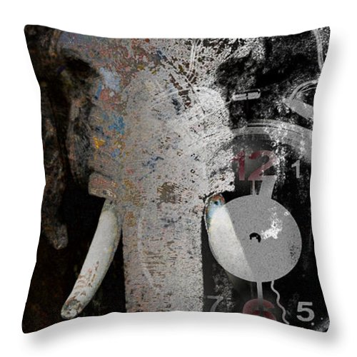 Wildlife Conservation Throw Pillow featuring the digital art Half Past Extinction by Nola Lee Kelsey