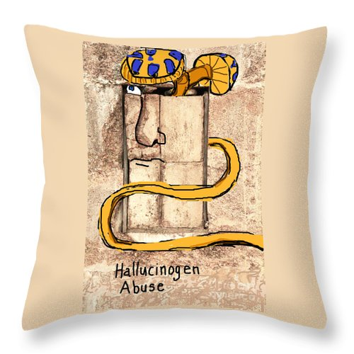 Psychiatric Humor Throw Pillow featuring the photograph Hallucinogen Abuse by Joe Jake Pratt