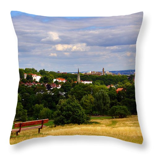 London Throw Pillow featuring the photograph Hampstead Heath by Nicky Jameson