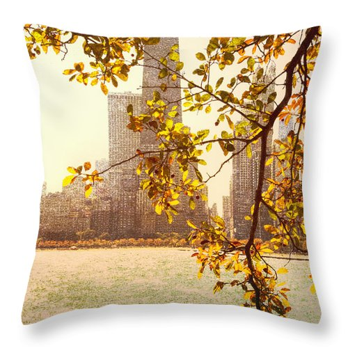 Leaves Throw Pillow featuring the photograph Hancock In Fall by Margie Hurwich