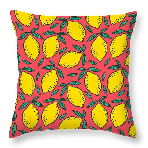 Hand Drawn Colorful Seamless Pattern Of Throw Pillow For Sale By Ekaterina Bedoeva