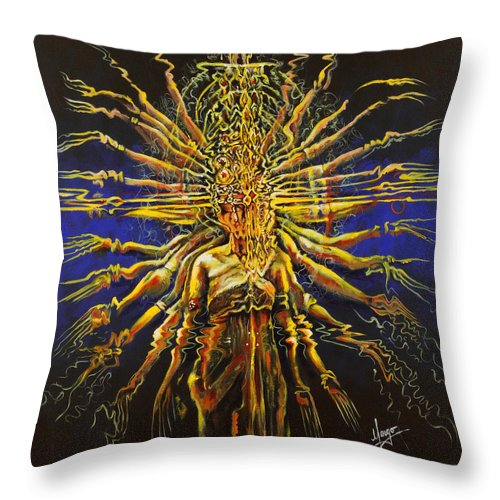 Dance Throw Pillow featuring the painting Hands Of Compassion by Karina Llergo