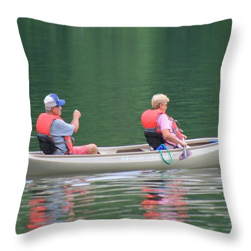Reflections Throw Pillow featuring the photograph Hanging With My Best Friend by Robin Vargo