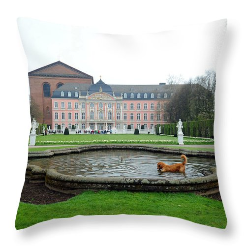 Dog Throw Pillow featuring the photograph Happiness by Richard Gehlbach